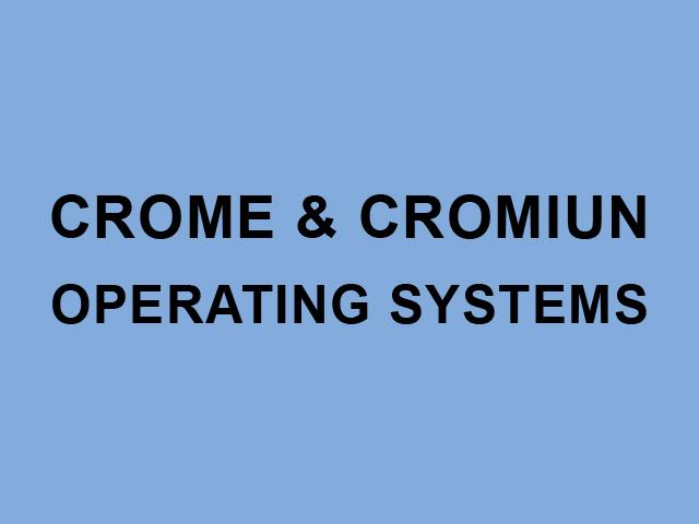Chrome и Chromium OS