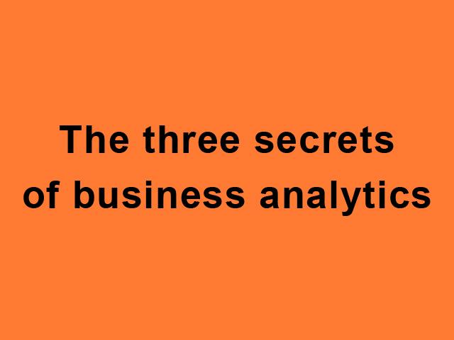 Три секрета бизнес-аналитики